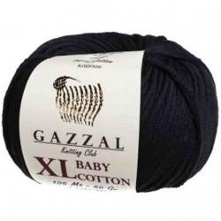 Gazzal Baby Cotton Xl Örgü İpi 3433 Siyah