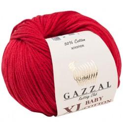 Gazzal Baby Cotton Xl Örgü İpi 3439 Koyu Kırmızı