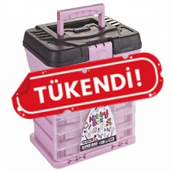 Hobi Kutusu Süper Bag Hobby Box Organizerli Takım Çantası Pembe