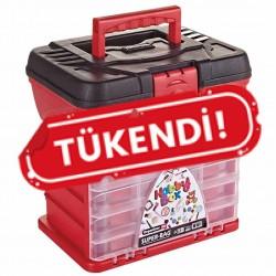 Hobi Kutusu Süper Bag Hobby Box Organizerli Takım Çantası Kırmızı