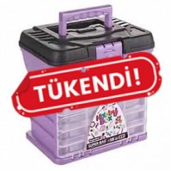 Hobi Kutusu Süper Bag Hobby Box Organizerli Takım Çantası Lila