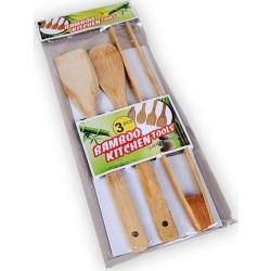 Ahşap Bambu Servis Seti ( Spatula Kaşık Maşa )