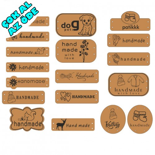 İsme Özel Deri Handmade Etiket
