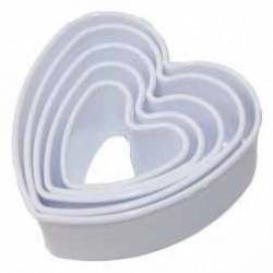 Kalp Kurabiye Kalıbı 5 Li