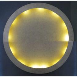 Kapı Süsü Bubble Led Işık Boşluklu Çember ( 40x40 Cm )