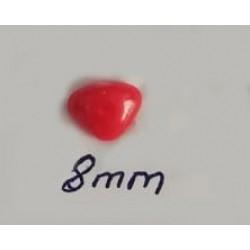 Kilitli Burun 8 Mm Kırmızı  ( 5 Adet )