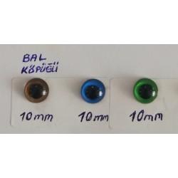 Kilitli Göz Renkli 10 mm ( 5 Çift )