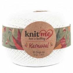 Knit Me Karnaval Örgü İpi Kırık Beyaz