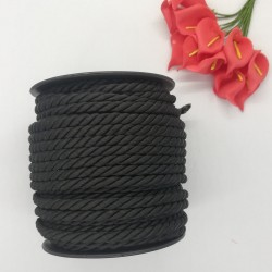 Kordon İp  Siyah ( 5 Mm )