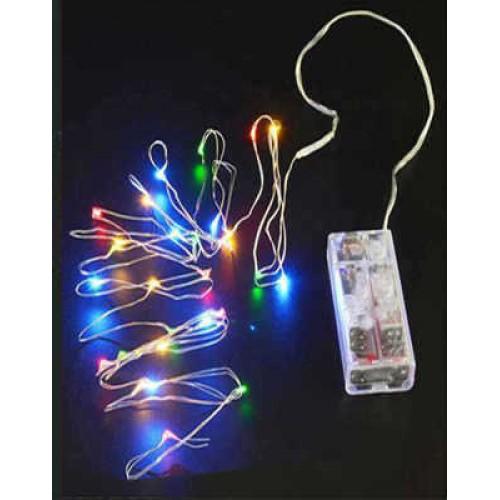 Led Işık Pilli 3 Metre 3 Fonksiyon Rengarenk