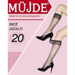 Müjde İnce Dizaltı Çorap 20 Denye