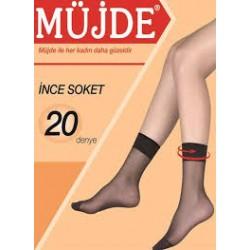 Müjde İnce Soket Çorap 20 Denye