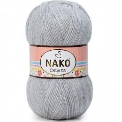 Nako Bebe 100 Örgü Bebe İpi 195 Açıkgri