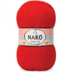 Nako Bebe 100 Örgü Bebe İpi 207 Alev Kırmızı