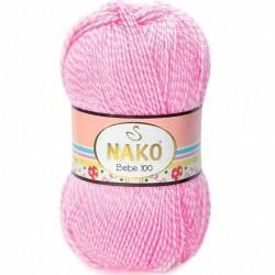 Nako Bebe 100 Örgü Bebe İpi 21290 Muline Pembe
