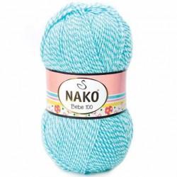 Nako Bebe 100 Örgü Bebe İpi 21291 Muline Mavi