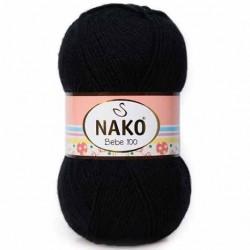 Nako Bebe 100 Örgü Bebe İpi 217 Siyah