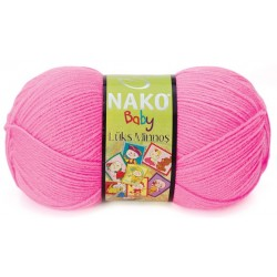 Nako Lüks Minnoş Örgü Bebe İpi 11158 Neon Pembe