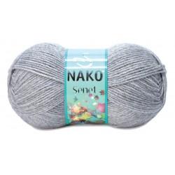 Nako Şenet El Örgü İpi 195 Koyu Gri Melanj