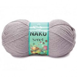 Nako Şenet El Örgü İpi 3079 Pembeli Gri
