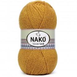 Nako Vizon Simli El Örgü İpi 10129 Hardal