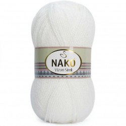 Nako Vizon Simli El Örgü İpi 208 Beyaz