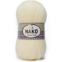 Nako Vizon Simli El Örgü İpi 256 Krem