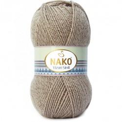 Nako Vizon Simli El Örgü İpi 257 Sütlü Kahve