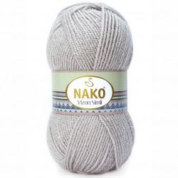 Nako Vizon Simli El Örgü İpi 3079 Pembeli Gri
