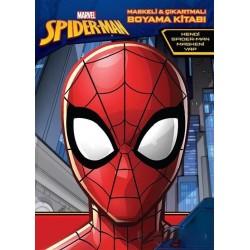 Örümcek Adam Maskeli ve Çıkartmalı Boyama Kitabı