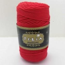 Peria Polyester Makrome İpi Kırmızı ( 100 gr )