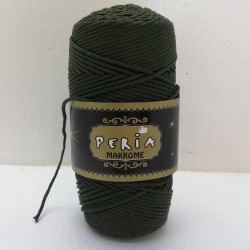 Peria Polyester Makrome İpi Haki ( 100 gr )