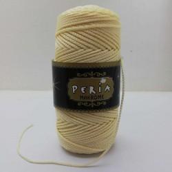Peria Polyester Makrome İpi Krem ( 100 gr )