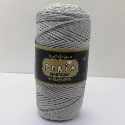 Peria Polyester Makrome İpi Açık Gri ( 100 gr )