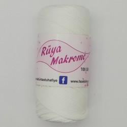 Polyester Makrome İpi Beyaz ( 100 gr )