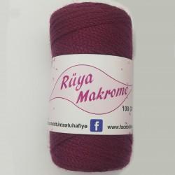 Polyester Makrome İpi Bordo ( 100 gr )