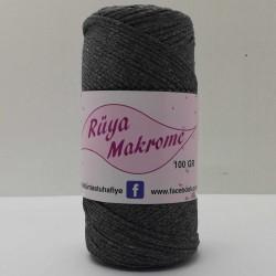 Polyester Makrome İpi Koyu Gri ( 100 gr )