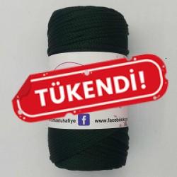 Polyester Makrome İpi Zümrüt Yeşili ( 100 gr )
