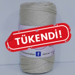 Polyester Makrome İpi Krem ( 100 gr )