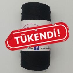 Polyester Makrome İpi Siyah ( 100 Gr )
