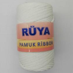 Rüya Pamuk Ribbon İp Beyaz ( 250 Gr )