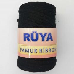 Rüya Pamuk Ribbon İp Siyah ( 250 Gr )