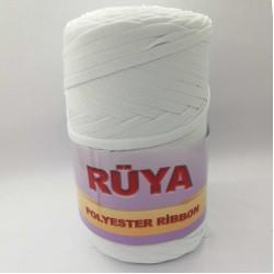 Rüya Polyester Ribbon İp Beyaz ( 200 Gr )