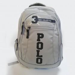 Şarjlı Polo Apexon Okul Çantası Gri