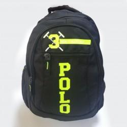 Şarjlı Polo Apexon Okul Çantası Siyah