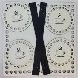 Sepet Tabanı Seti Beyaz Kare 25 cm