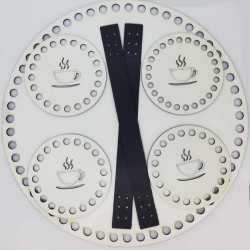 Sepet Tabanı Seti Beyaz Yuvarlak 25 cm